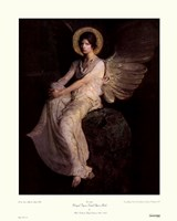Winged Figure Seated Upon A Rock Fine-Art Print