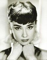 Audrey Hepburn - Sepia Wall Poster