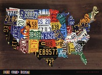 Usa Map II Fine-Art Print