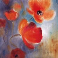 Scarlet Poppies In Bloom I Fine-Art Print