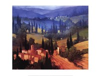 Tuscan Valley View Fine-Art Print