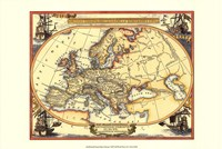 Small Nautical Map Of Europe Fine-Art Print
