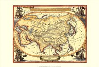 Small Nautical Map Of Asia Fine-Art Print