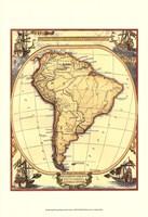 Small Nautical Map Of South America Fine-Art Print
