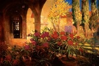 Twilight Courtyard Fine-Art Print