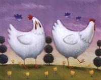 Funky Chickens Fine-Art Print
