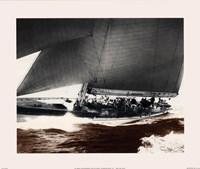 Mariner's Museum - Rainbow's Run 1934 Vintage Maritime Fine-Art Print