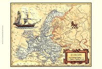 Europe Map Fine-Art Print