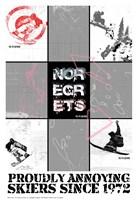 NO REGRETS - SNOW BOARDER Fine-Art Print