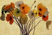 Pumpkin Poppies I Fine-Art Print
