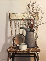 Watering Can on Chair Fine-Art Print