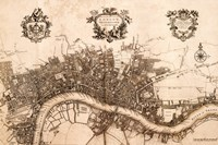 Plan of the City of London, 1720 Fine-Art Print