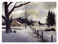 Snow Fields - Winter Barn Fine-Art Print