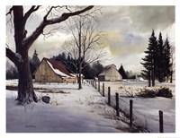 Snow Fields - Winter Barn Fine-Art Print
