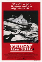 Friday the 13th Black & Red Fine-Art Print