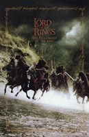 Lord of the Rings: Fellowship of the Ring Battling on Horses Fine-Art Print