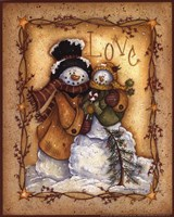 Snow Folk Love Fine-Art Print