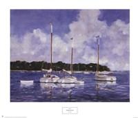 Moored Cat Boats Fine-Art Print