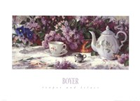 Teapot and Lilacs Fine-Art Print