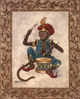 Monkey With Drum Fine-Art Print