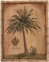 Caribbean Palm III With Bamboo Border Fine-Art Print