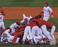 2008 Philadelphia Phillies World Series Champions Team Celebration Horizontal Fine-Art Print