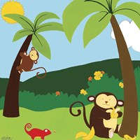 Jungle Jamboree II Fine-Art Print