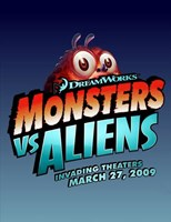 Monsters vs. Aliens, c.2009 - style B Wall Poster