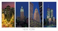 The Flatiron Building, the Empire State Building, the Chrysler Building and the World Trade Center Fine-Art Print