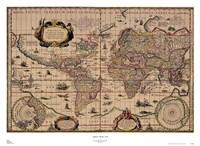 Explorer's World, 1630, Blau Fine-Art Print
