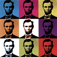 Abraham Lincoln - colored tiles Fine-Art Print