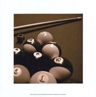Pool Table II - Sepia Fine-Art Print