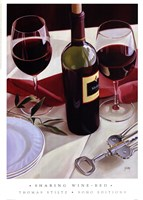 Sharing Wine - Red Fine-Art Print