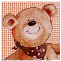 Spotty Scarf Ted Fine-Art Print