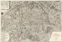 Plan de la Ville de Paris, 1715 Fine-Art Print