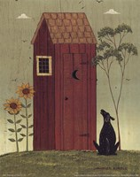 Outhouse with Dog Fine-Art Print