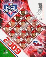 2009 Philadelphia Phillies National League Champions Team Composite Fine-Art Print
