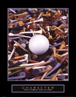 Character - Golf Tees Fine-Art Print