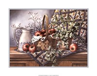 Quilt, Pitcher and Apples Fine-Art Print