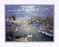 Safe Harbor With Pelicans Fine-Art Print