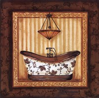 Copper Paisley Bath I Fine-Art Print