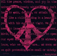 Peace Sign IV Fine-Art Print