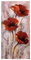 Red Poppies on Taupe II Fine-Art Print