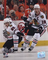 Patrick Kane & Jonathan Toews 2009-10 NHL Stanley Cup Finals Game 3 Action (#11) Fine-Art Print
