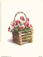 Log Cabin Pansy Basket Fine-Art Print