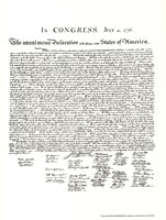 Declaration of Independence (Document) Fine-Art Print