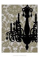 Small Chandelier Silhouette I (P) Fine-Art Print