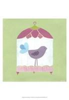 Patchwork Birdcage I Fine-Art Print
