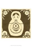 Russian Doll in Brown Fine-Art Print
