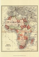 Small Antique Map of Africa (P) Fine-Art Print